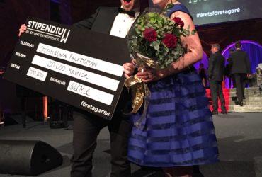 Stefan och Linda Falk-Boman från Gnosjö vann pris på Årets Företagare gala
