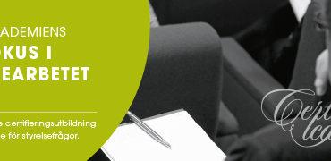 Rätt fokus i styrelsearbetet SME 20 och 27 september 2018, Campus i Värnamo